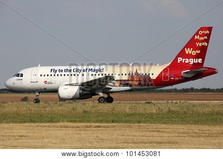Csa - Czech Airlines (fly To The City Of Magic)