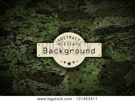 Camouflage grunge military pattern background. Vector illustration,