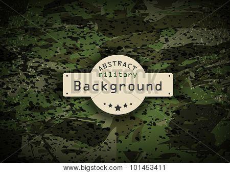 Camouflage grunge military pattern background. Vector illustration,