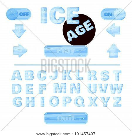 Colorful Of Stylized Under The Ice Alphabets For Children's Education Or Use For Headings In Onl
