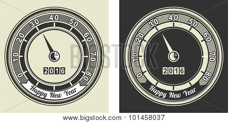Vector - Happy New Year Frame