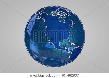 Blue Earth 3D Render
