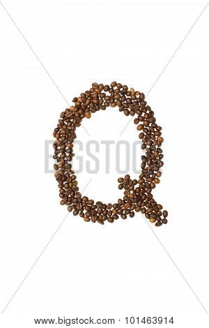 Letter Q Of Coffee Beans