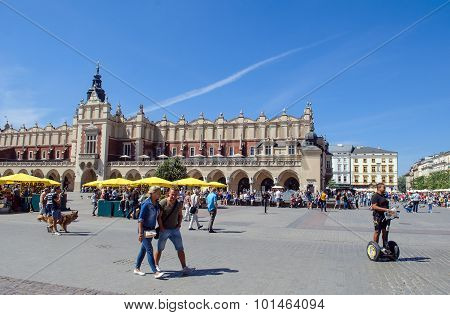 Ancient Market Square In Krakow, Poland