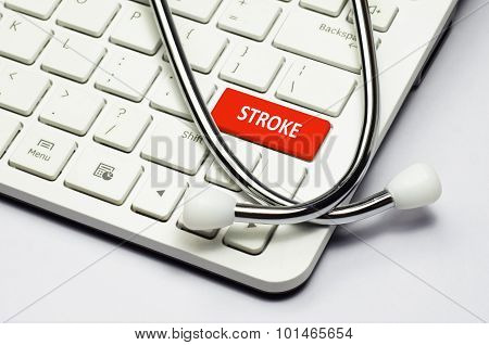 Keyboard, Stroke Text And Stethoscope