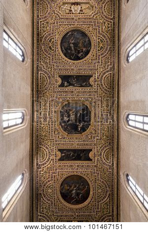 Ceiling Of San Pietro A Majella In Naples, Italy