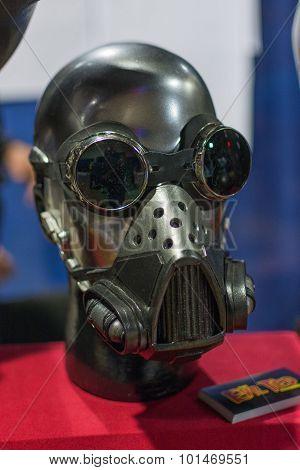 Sci-fi Helmet On Display