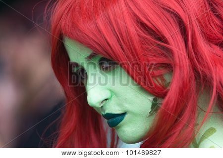 Woman Characterized As Poison Ivy