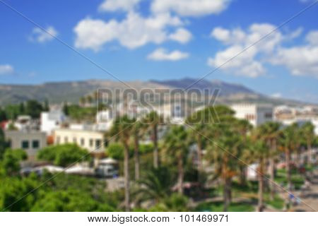 Greece. Dodecanesse. Island Kos. In Blur Style