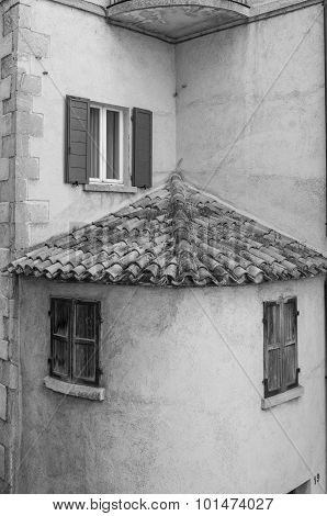 Black And Withe House