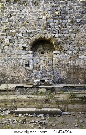 Baths Of Faustina In The Ancient City Of Miletus Near Bodrum Turkey