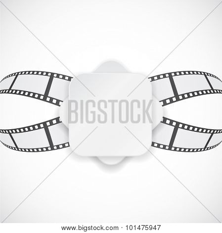 film strip blank paper banner abstract background