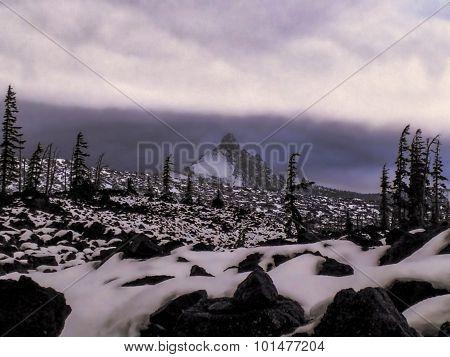 Strange Snowscape