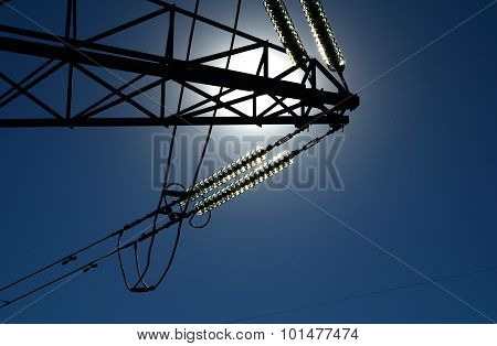 Detail Of The Tower Transmission Line