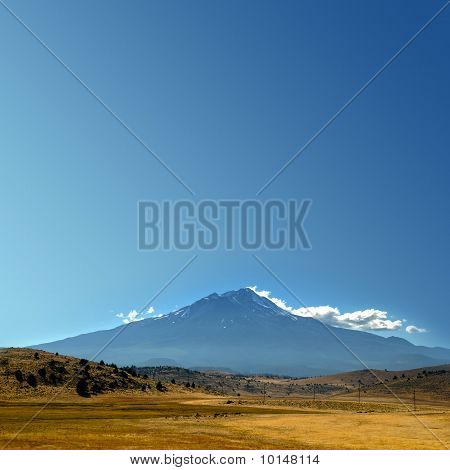 Mountain With Empty Sky Copyspace