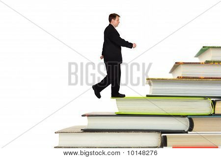 Man And Book Stairs