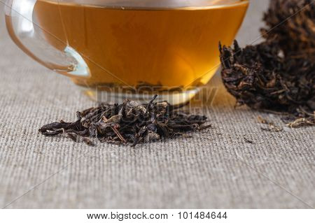 Chinese Tea Puer, Closeup