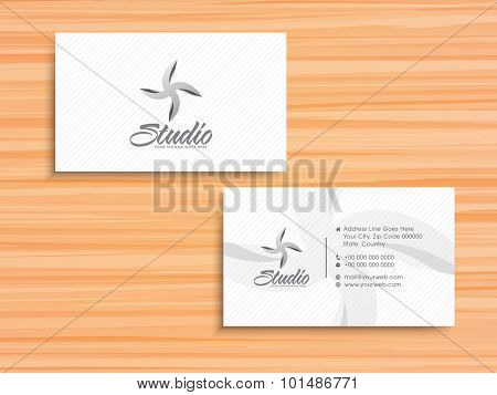 Professional horizontal business card, name card, calling card or visiting card set for your company and organization.