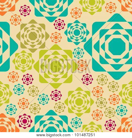 Colorful creative abstract seamless pattern design.