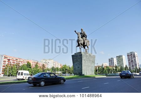David The Builder Statue In Tbilisi