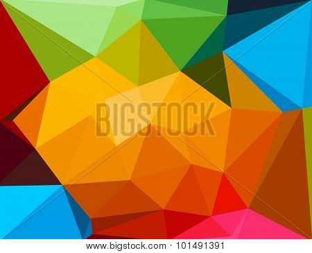 Background of geometric shapes easy editable