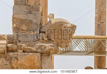 Persepolis wall ruins