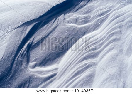 Winter texture. The snow after a snowstorm. Abstract background for design