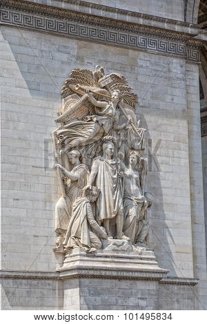 Paris Arc de Triomphe relief