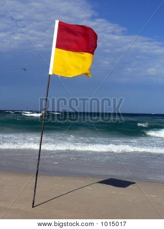 Flag And Beach