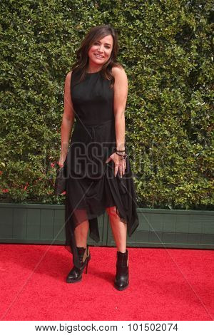 LOS ANGELES - SEP 12:  Pamela Aldon at the Primetime Creative Emmy Awards Arrivals at the Microsoft Theater on September 12, 2015 in Los Angeles, CA