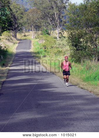 Runner On Country Road