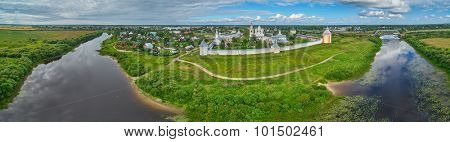 Spaso-Prilutsky Monastery near Vologda City, Aerial Panorama