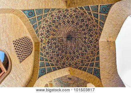 Nasir Al-Mulk Mosque dome mosaic