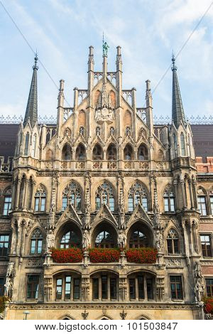 Munchen New Town Hall Marienplatz