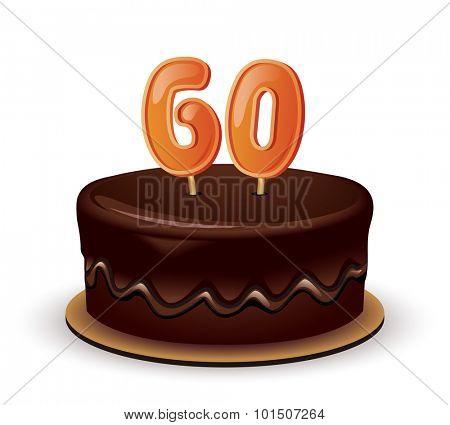 Birthday Cake-Sixtieth Birthday or Anniversary Celebration