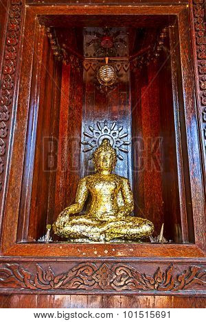 Buddha In Church  Palm Wood