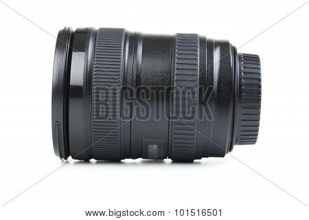Camera Lens On Isolated The White