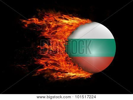 Flag With A Trail Of Fire - Bulgaria