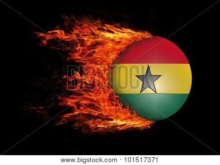 Flag With A Trail Of Fire - Ghana