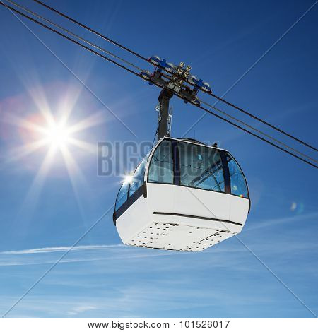 Cable Car And Sun