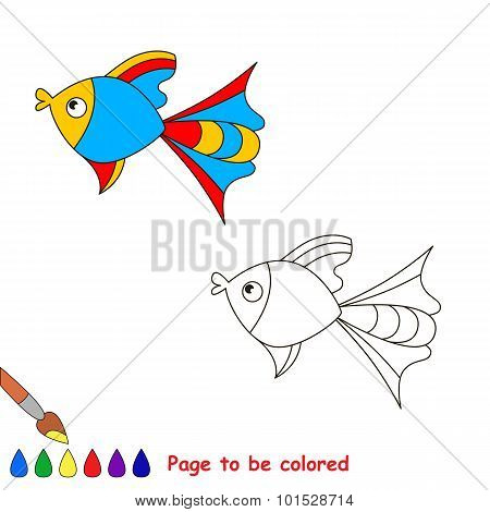 Coloring book for children. Page to be color.