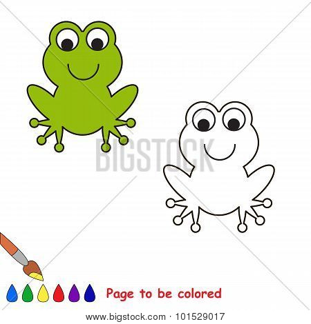 Cartoon frog to be colored.
