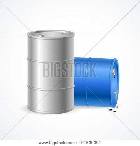 Oil Barrel Drum. Vector
