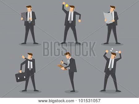 Businessman Vector Character Set