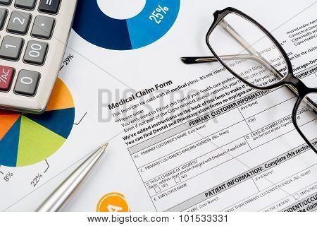 Medical insurance claim form