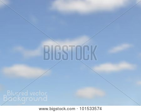Cloudy sky. Vector blurred background with lens flares. Abstract smooth colorful illustration