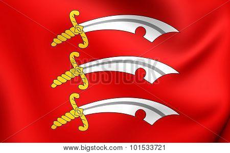 Flag Of Essex County, England.