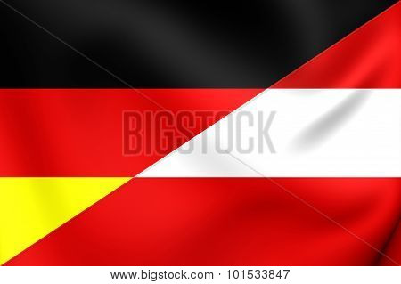 Flag Of Austria And Germany