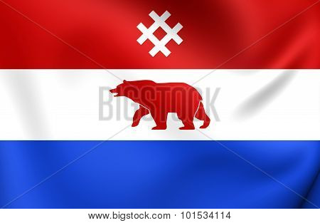 Flag Of Komi-permyak Okrug, Russia.