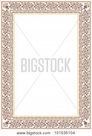 Brown Floral Border